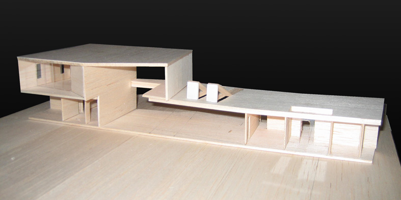Casa doblevista b mur a y r valenzuela chile for Casa minimalista maqueta