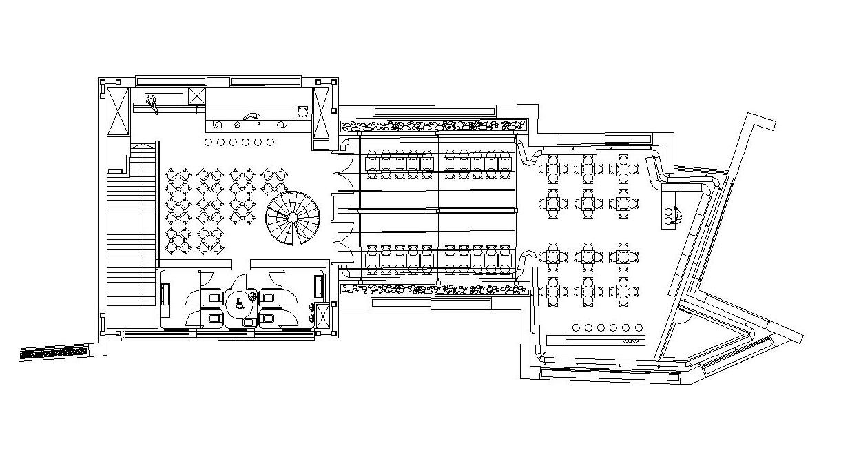 Bar la rutbia planos del bar la rutbia for Planos de cocinas para restaurantes