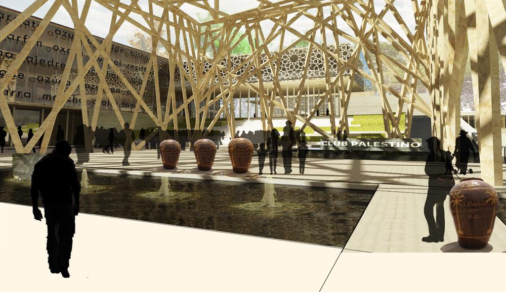 El nuevo club palestino ricardo abuauad y arquitectos for Accesos arquitectura