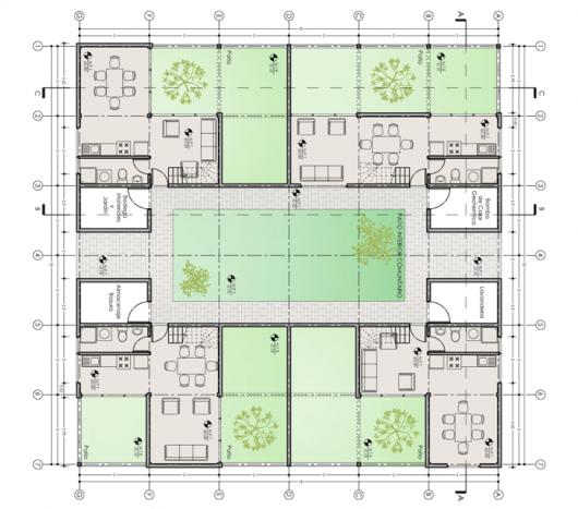 Diseno De Baño Social:Concurso de Arquitectura y Eficiencia Energética en Vivienda Social