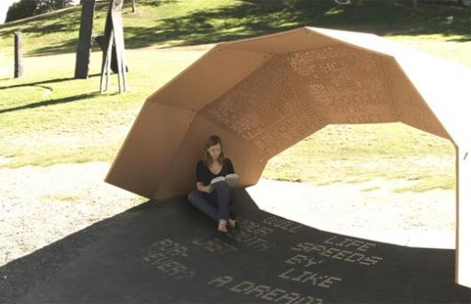 One Day Pavilion: instalación de sombras.