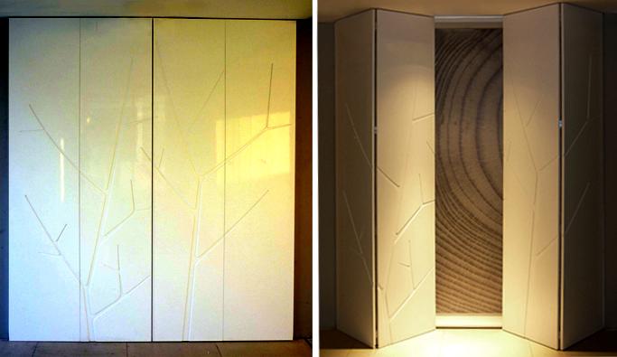 Closet con puertas corredizas de madera de maple o for Closet de aluminio