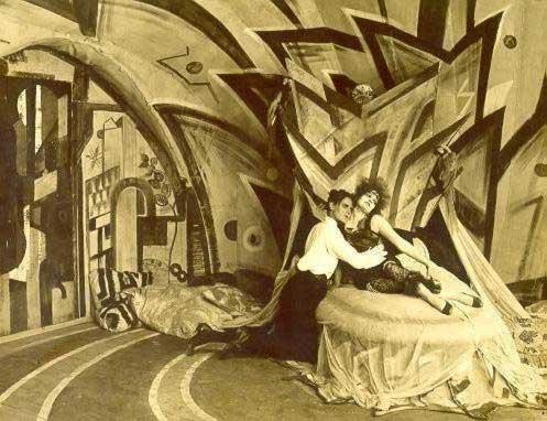 Escena de la película el gabinete del doctor Caligari