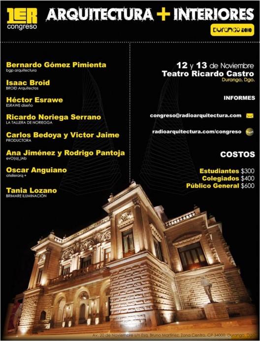 Congreso arquitectura interiores durango 2010 arquigeek for Arquitectura de interiores pdf