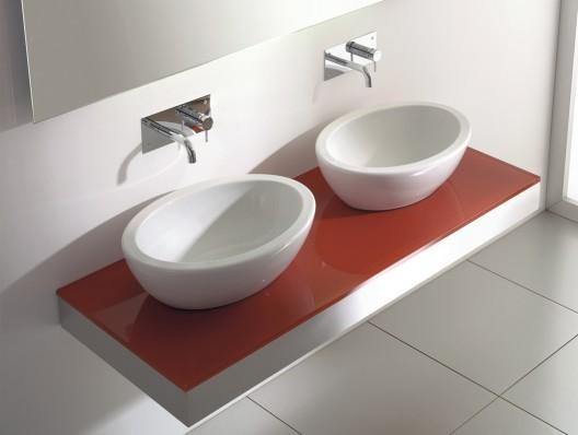 Casas cocinas mueble lavamanos de banos for Lavamanos cristal