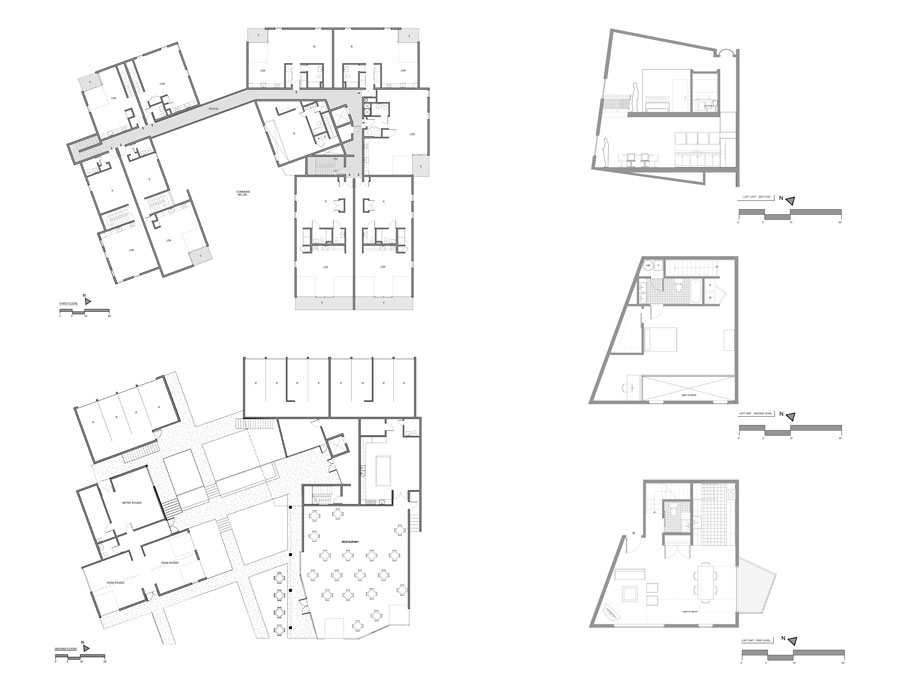 Lofts Glass / Front Studio Architects 1294761094-floor-plans---section-floor-plans---section