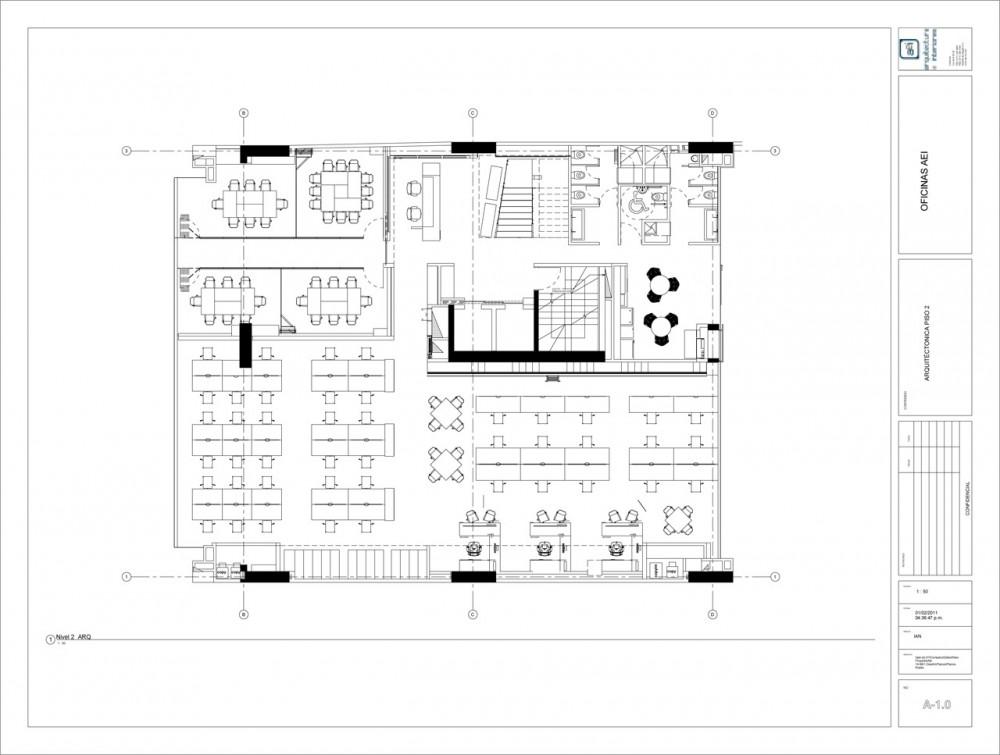 AeI Headquarters / AeI, Arquitectura e Interiores 1301349482-1298582342-plan-01-1000x755