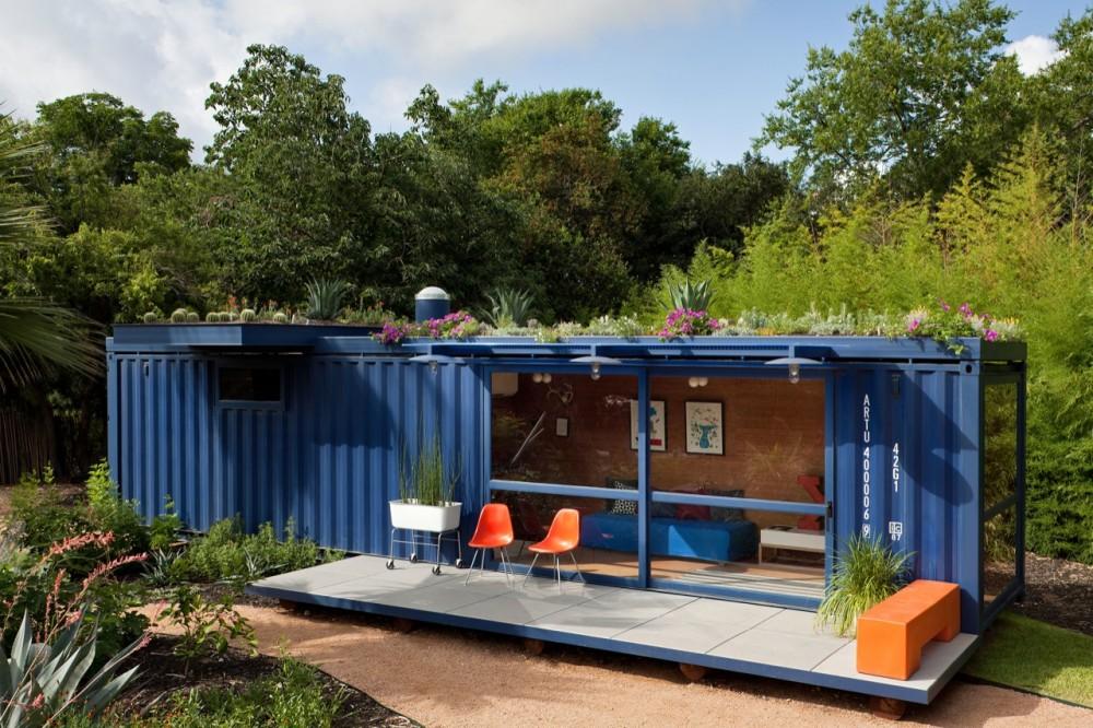 Casa Container Para Invitados Poteet Architects