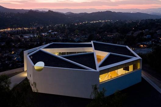 Pittman dowel house blue ant studio for Pentagon shaped house plans