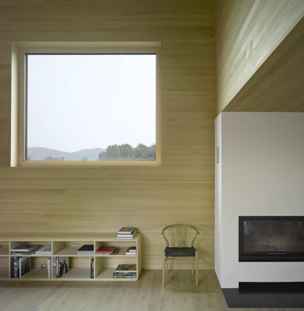 Galer a casa de madera con patio interior di bernardo for Casas de madera para patios