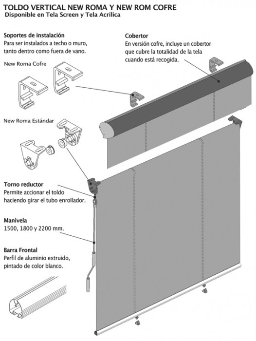 Toldos verticales flexalum - Toldos verticales para exterior ...