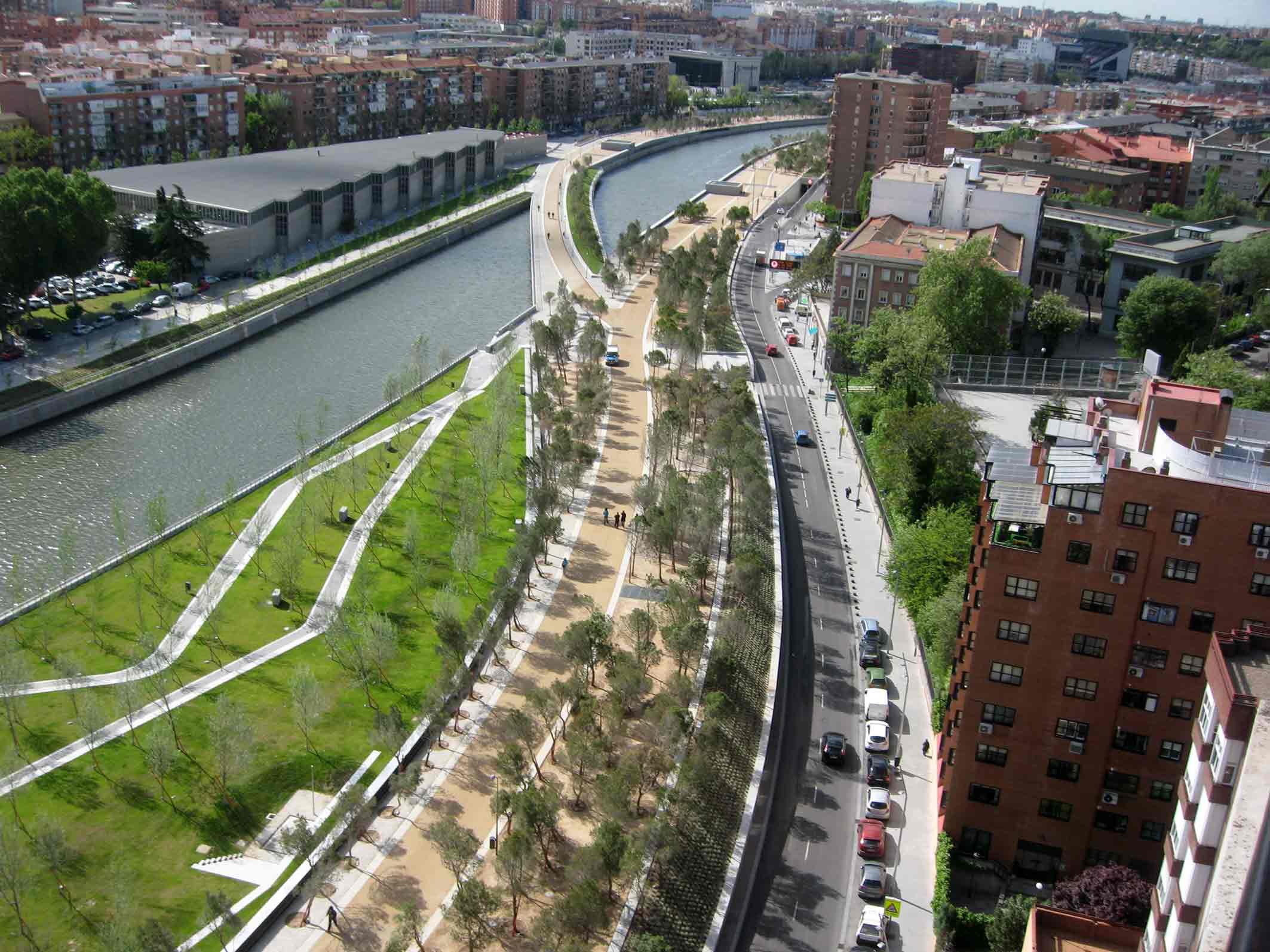 espacio p blico proyecto madrid rio