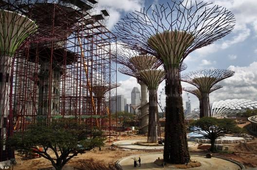 súper árboles jardines verticales Supertrees