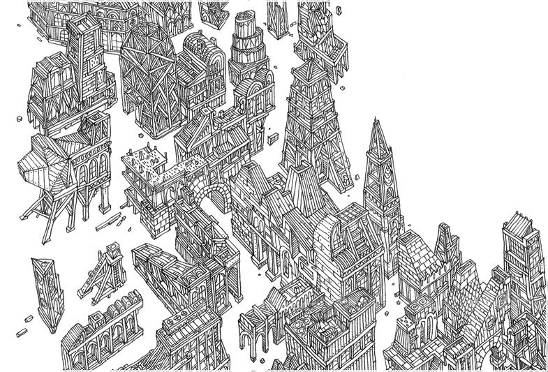 Ciudad ilustraciones reflexiones 3d building printing - Trabajo arquitecto barcelona ...