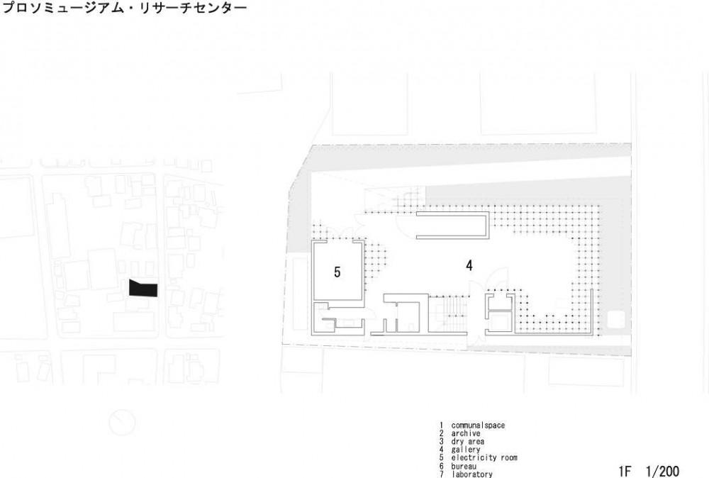 Museo y Centro de Investigación GC Prostho / Kengo Kuma & Asociados (3) Planta 1