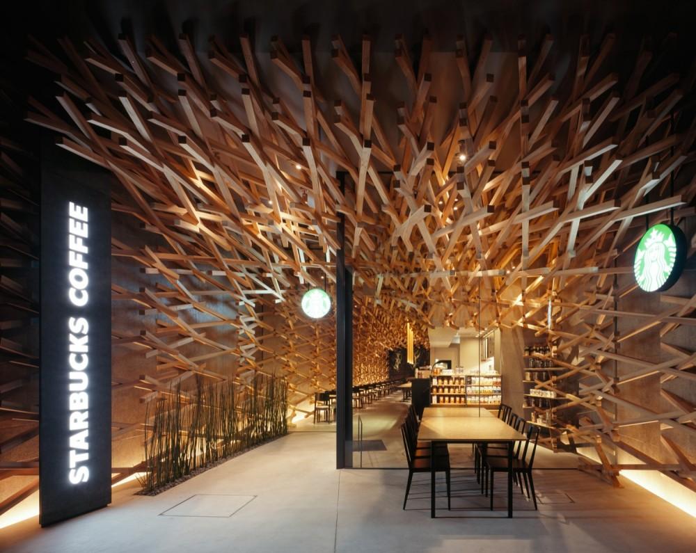 Starbucks Coffee / Kengo Kuma & Associates (1) © Masao Nishikawa