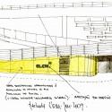 Oficinas Glem / Mareines + Patalano Arquitetura (40) croquis fachada