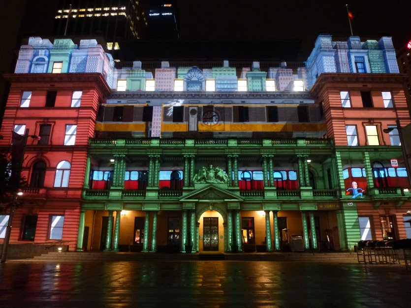 Vivid's Festival of light 2012 Vía electric canvas