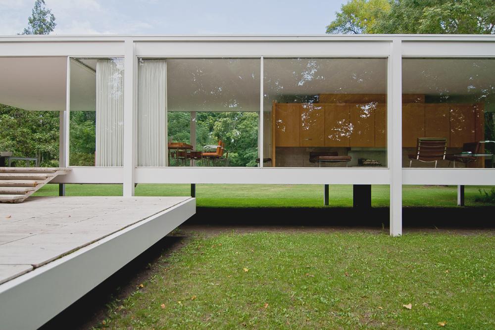 Galer a cl sicos de arquitectura casa farnsworth mies - Estructuras de acero para casas ...