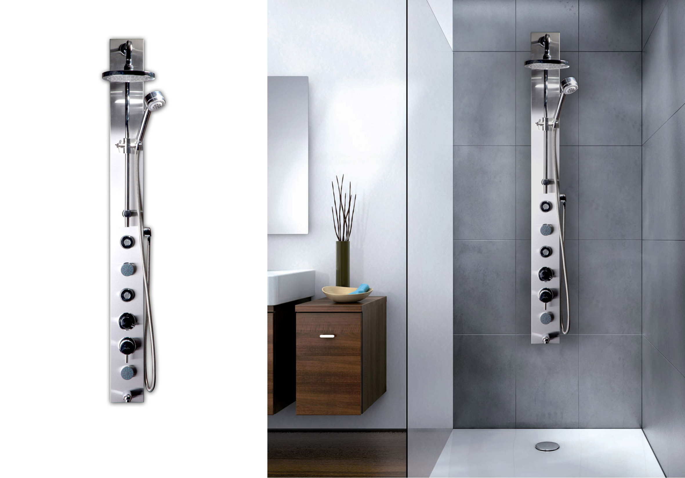 Columnas de ducha hidromasaje chc roca wasser - Columnas de ducha ...