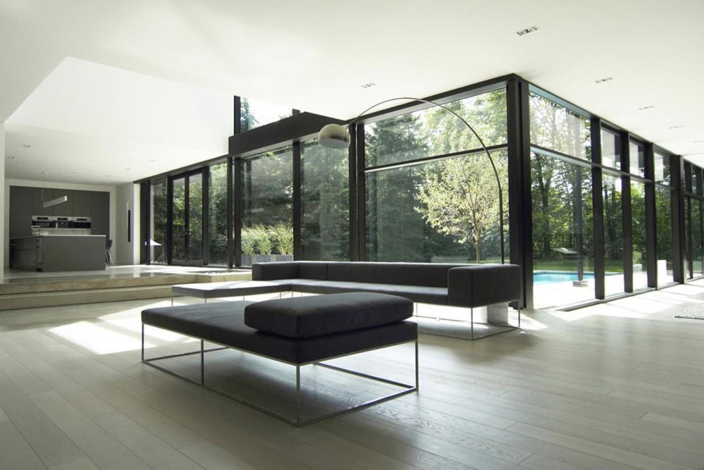 Amante del minimalismo casa oakville guido costantino - Paredes de vidrio exterior ...