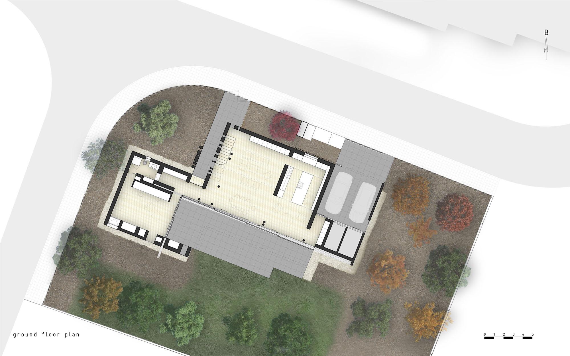 [PUERTAS / VENTANAS] Ventanas y puertas abatibles y plegables y puertas correderas en revit 509891d828ba0d04030000e9_casa-0405-simpraxis-architects_100_ground_floor_plan