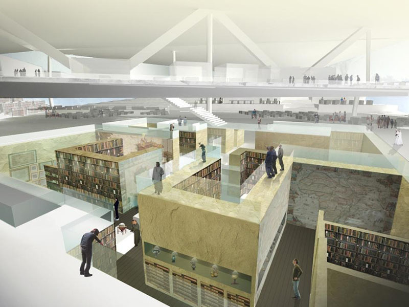 "OMA To Design ""Iconic"" Qatar National Library Cortesía Biblioteca Nacional de Qatar (http://www.qnl.qa/)"
