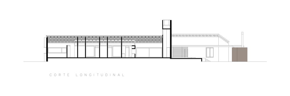 Casa En El Rio Limay / FKB Arquitectos Corte