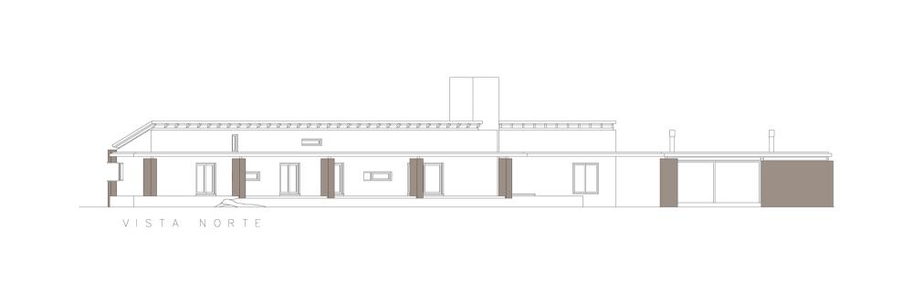 Casa En El Rio Limay / FKB Arquitectos Elevación Norte