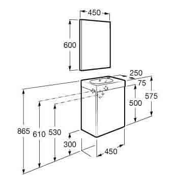 mk: muebles de baño mini de roca - Medidas Muebles Bano