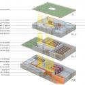 Saint Denis Archives Building / Antonini + Darmon Architectes Axonométrica Explotada