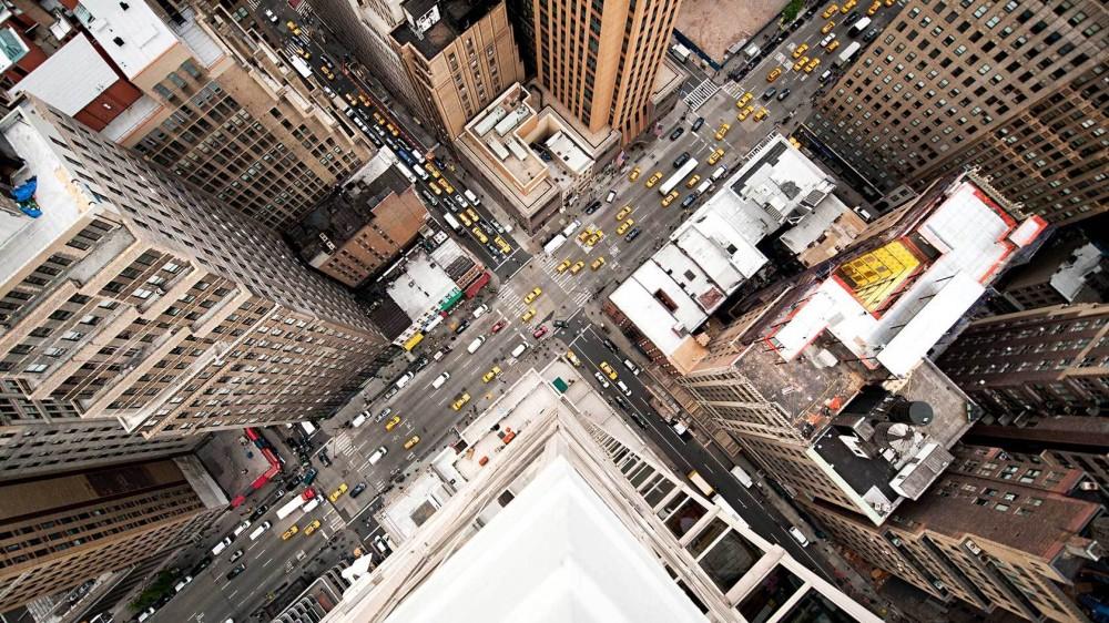 Fotografías aéreas de Nueva York y Tokio
