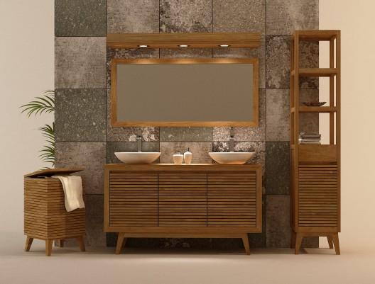 mueble madera banos