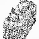 AD Classics: Casa Milà / Antoni Gaudí Axonométrica (vía greatbuildings.com)