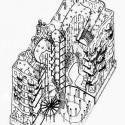 AD Classics: Casa Milà / Antoni Gaudí Axonométrica Seccional (vía greatbuildings.com)