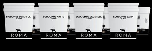 Pinturas minerales Domus. Imagen Cortesía de ROMA via Cradle to Cradle