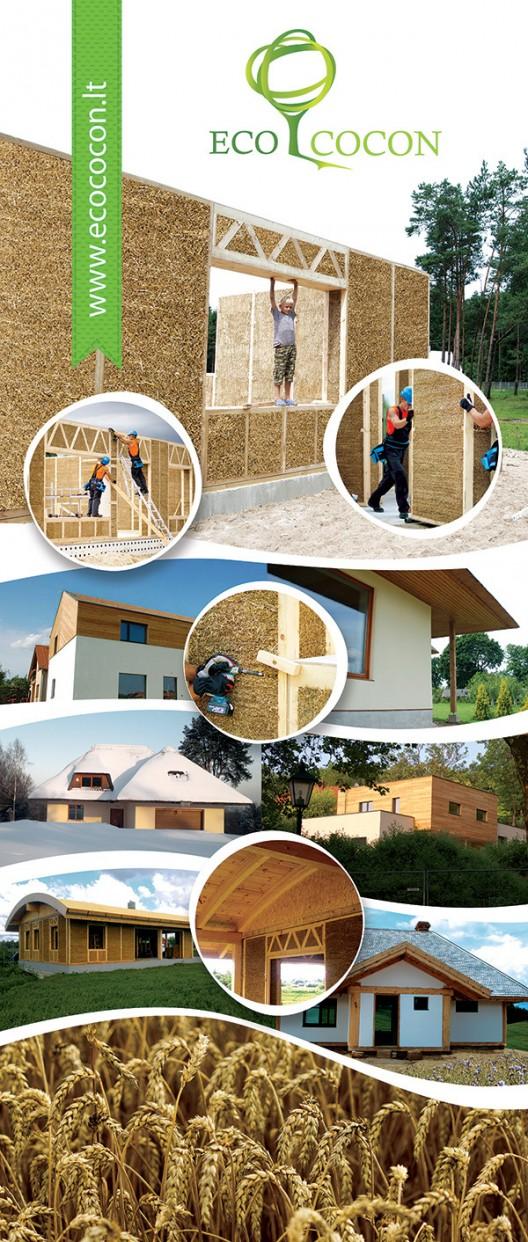 Paneles de Paja. Imagen Cortesía de Ecococon via Cradle to Cradle