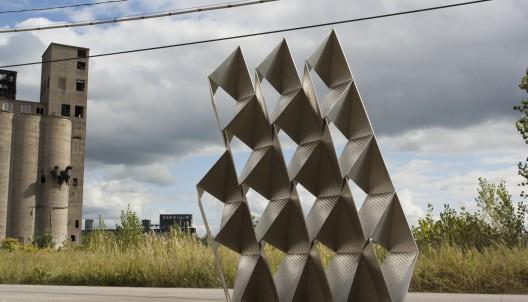Muro compuesto de módulos de acero gana el Concurso de Fabricación Digital SKIN