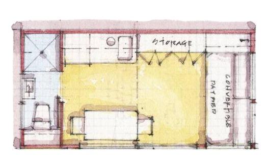Estudiantes diseñan micro-viviendas sobre la huella de un espacio de estacionamiento