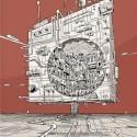 """Arte e Arquitetura: """"A Persistência do Traço"""" por André Rocha City Cube 2 © André Rocha"""