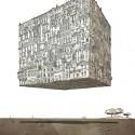 """Arte e Arquitetura: """"A Persistência do Traço"""" por André Rocha City Cube © André Rocha"""