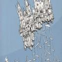 """Arte e Arquitetura: """"A Persistência do Traço"""" por André Rocha City of Stakes © André Rocha"""
