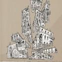 """Arte e Arquitetura: """"A Persistência do Traço"""" por André Rocha Gothic Gravitation © André Rocha"""