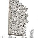 """Arte e Arquitetura: """"A Persistência do Traço"""" por André Rocha Walking Favelas © André Rocha"""