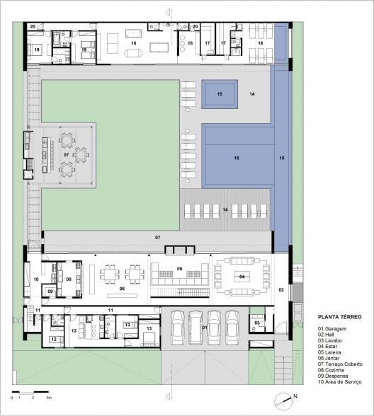 Planos de casas con patio central para eco house for Planos de casas con patio interior