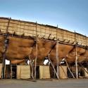 """""""La Petatera"""" en México: una plaza de toros temporal de madera, cuerdas y petates © Vía villadealvarez.gob.mx"""