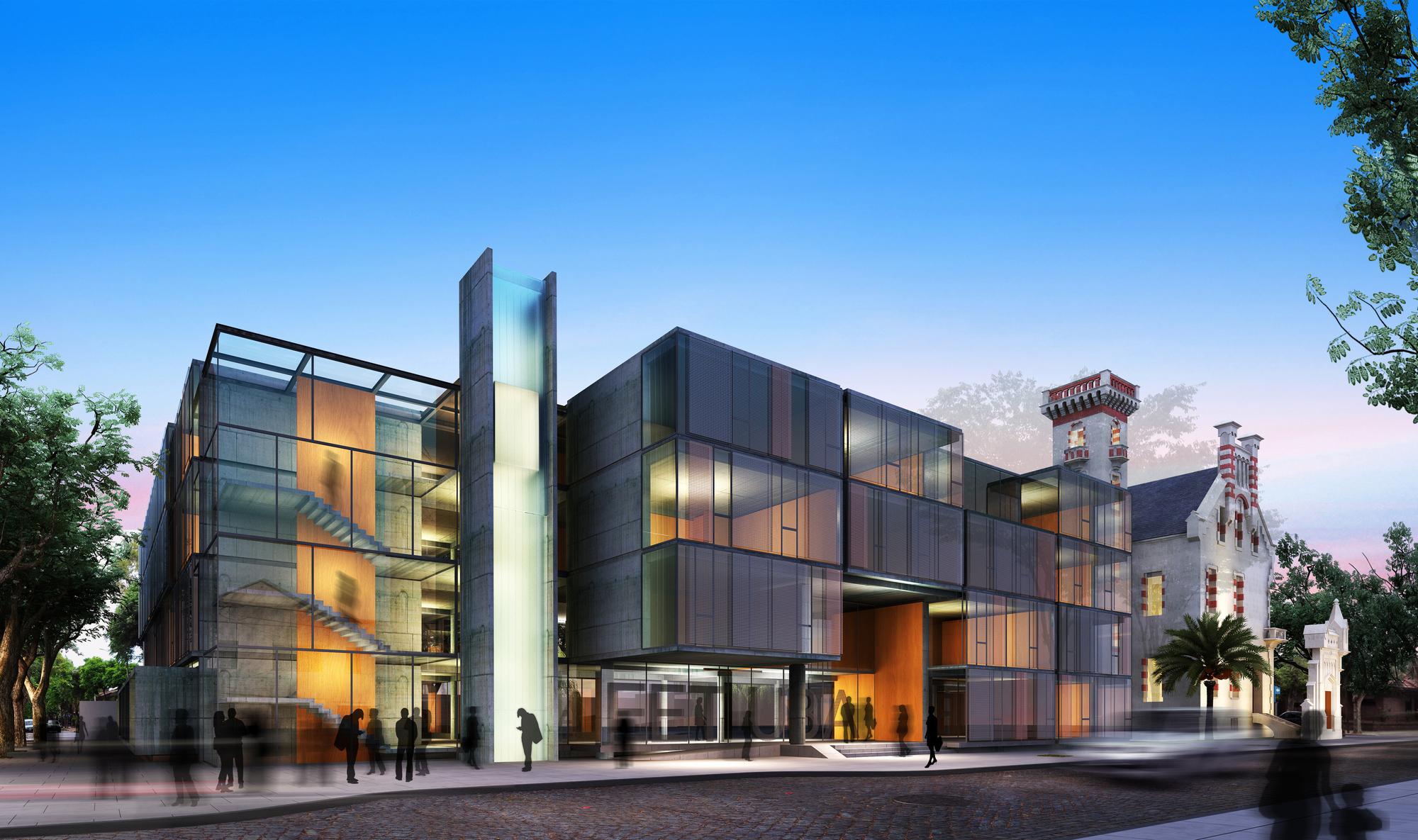Menci n premiada concurso arquifadu nueva escuela de for Decano dela facultad de arquitectura