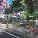 Primer Lugar Concurso Parque de Ciudad-Neiva / Colombia Alameda El Curibano. Image Cortesía de Obraestudio + Riqueza