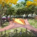 Primer Lugar Concurso Parque de Ciudad-Neiva / Colombia Estación Colores. Image Cortesía de Obraestudio + Riqueza