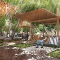 Primer Lugar Concurso Parque de Ciudad-Neiva / Colombia Estación sombra y la Hojarasca. Image Cortesía de Obraestudio + Riqueza